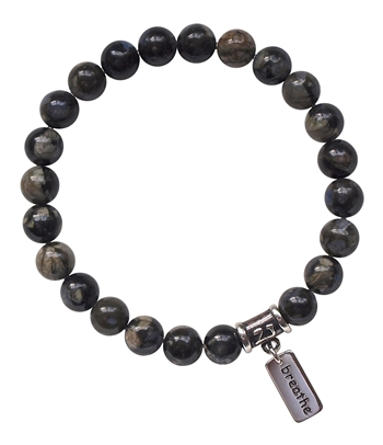 BE TRUE TO YOURSELF- Grey Opal Healing Gemstone Bracelet - zen jewelz