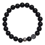 BE STRONG - Onyx Healing Crystal Stretch Bracelet - zen jewelz