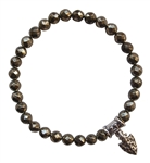 BE FEARLESS - Iron Pyrite Healing Crystal Bracelet - zen jewelz