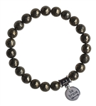 BE BRAVE - Iron Pyrite Healing Crystal Bracelet - zen jewelz