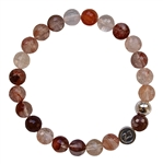 DIVINE LOVE - Cherry Quartz Healing Crystal Bracelet - zen jewelz