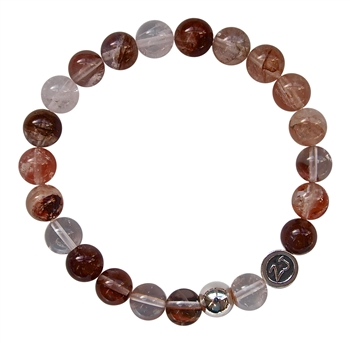 LIVE, LOVE, LAUGH - Cherry Quartz Healing Crystal Bracelet - zen jewelz