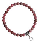 I FORGIVE - Rhodonite Healing Crystal Stretch Bracelet - zen jewelz