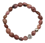 EMOTIONAL BALANCE - Rhodonite Healing Crystal Stretch Bracelet - zen jewelz
