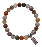 LETTING GO - Rutilated Quartz Healing Gemstone Bracelet - zen jewelz