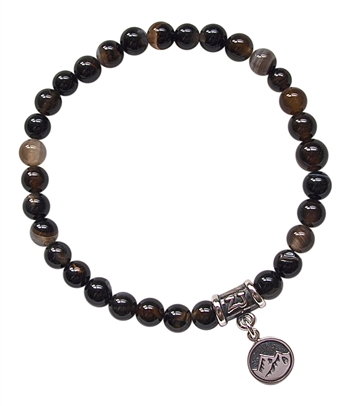 ELEMENT-EARTH-Sardonyx-Healing Crystal Bracelet-zen jewelz