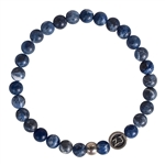HELP PANIC ATTACKS - Sodalite Matte Finish Healing Crystal Stretch Bracelet - zen jewelz