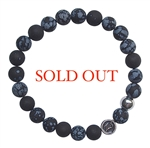 SUCCESS - Snowflake Obsidian Healing Crystal Bracelet - zen jewelz