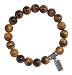 ACHIEVE GOALS - Tiger Eye Healing Crystal Stretch Bracelet - zen jewelz