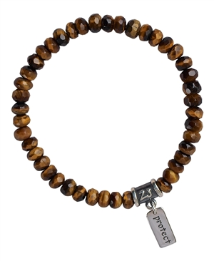 BE CONFIDENT - Tiger Eye Healing Gemstone Stretch Bracelet - zen jewelz