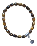 FIND PEACE - Tiger Eye Healing Crystal Stretch Bracelet - zen jewelz