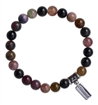 FEEL THE LOVE - Watermelon Tourmaline Healing Crystal Bracelet - zen jewelz