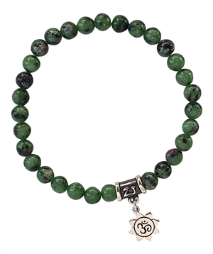 LIFE FORCE - Ruby Zoisite Healing Crystal Bracelet - zen jewelz
