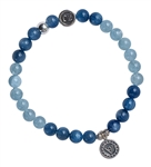 CHAKRA 5 - THROAT CHAKRA - Healing Gemstone Bracelet - zen jewelz