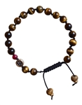 BE BRAVE - Tiger Eye Gemstone Bracelet with Ruby - zen jewelz