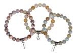 TOTAL SERENITY - Aquamarine, Pink Opal, Heal Your Soul Bracelet Bundle - zen jewelz