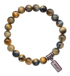 SOAR - Hawk's Eye Healing Crystal Stretch Bracelet - zen jewelz