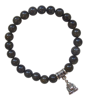 MANIFESTATION - Black Jade Healing Gemstone Bracelet - zen jewelz