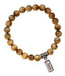 CONFIDENCE - Tiger Eye Healing Crystal Stretch Bracelet - zen jewelz