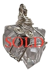 HERKIMER DIAMOND Crystal Pendant - zen jewelz