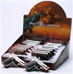 "Torch Gun Lighter with laser pointer,approx size 3.5""x2.5"" Assorted color, 16/display, unit price $5.50/ea"