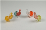 Glass Mini Elephant pipe, insideout colorful glass, nice shaped and assorment, Unit price: $12.00