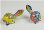 Glass turtle pipe, about 3.5 long, made of heavey pyrex glass with nice color pattern. Unit price $15.90