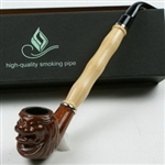"Tobacco pipe, about 9"" long, made of polyester and wood, come with individual box. Unit price $17.90"