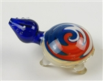 "Glass turtle pipe w/ reversal color, about 3.5"" long, pretty heavy. Unit price: $21.50"