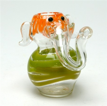 Sitting Elephant  Glass Pipe