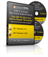 The 20 To Do's for Chiro SUPER SUCCESS