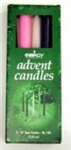 "Candle-Advent-10"" - 3 Purp/1 Pnk/1 White: 072094110507"