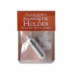 Anointing Oil-Keyring Holder-Silvertone: 634357340030