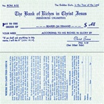 The Bank of Riches in Christ Jesus