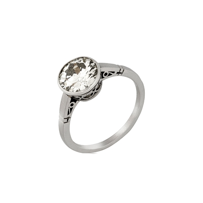 Stainless Steel Jewel Ring