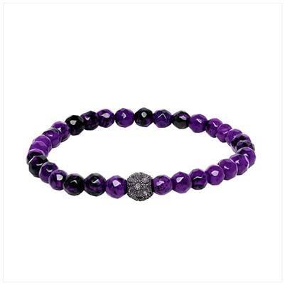 Black/Purple Bracelet