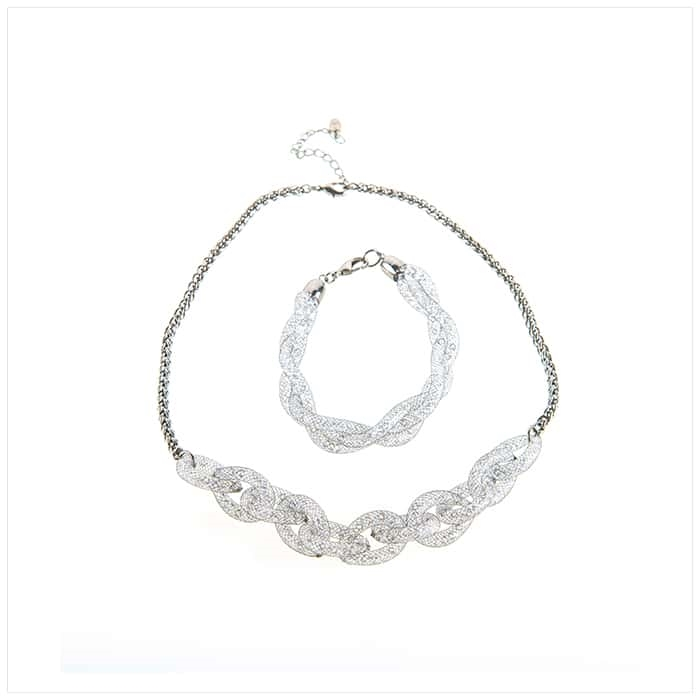 Silver Necklace and Bracelet