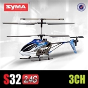 "Syma S32 Medium Metal 12"" RC Helicopter 2.4 Ghz (Blue)"