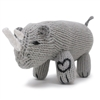 Organic Rattle - Stuffed Rhino Toy