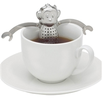 Stainless Steel Tea Infuser - Hanging Monkey