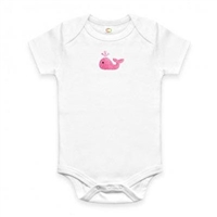 Organic Gifts for Baby - Pink Whale Onesie