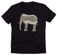 Just Cause Clothes - Organic Elephant Tee For Men
