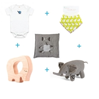 Elephant Themed Baby Gift Basket