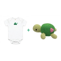 Organic Gift Basket for Baby - Turtle