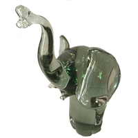 Elephant Figurines - Handblown Glass Elephant