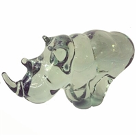 Rhino Figurines - Handblown Glass Rhino