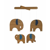 Nursery Decorations - Wooden Mobile - Elephant