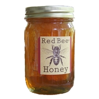 Local Honey and Honeycomb - Red Bee Gifts - 16 oz.