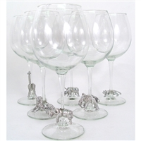 Safari Pewter Wine Glasses