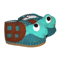 Sea Turtle Baby Booties - Wool Felt